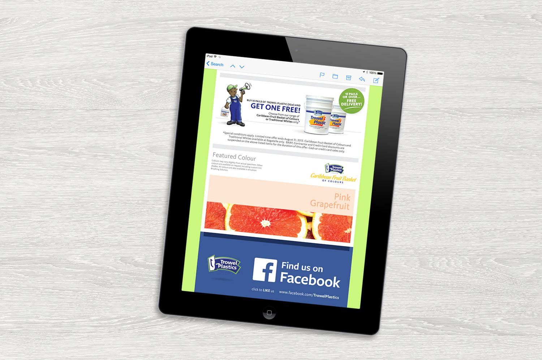 Trowel Plastics Newsletter   Digital - Email Marketing