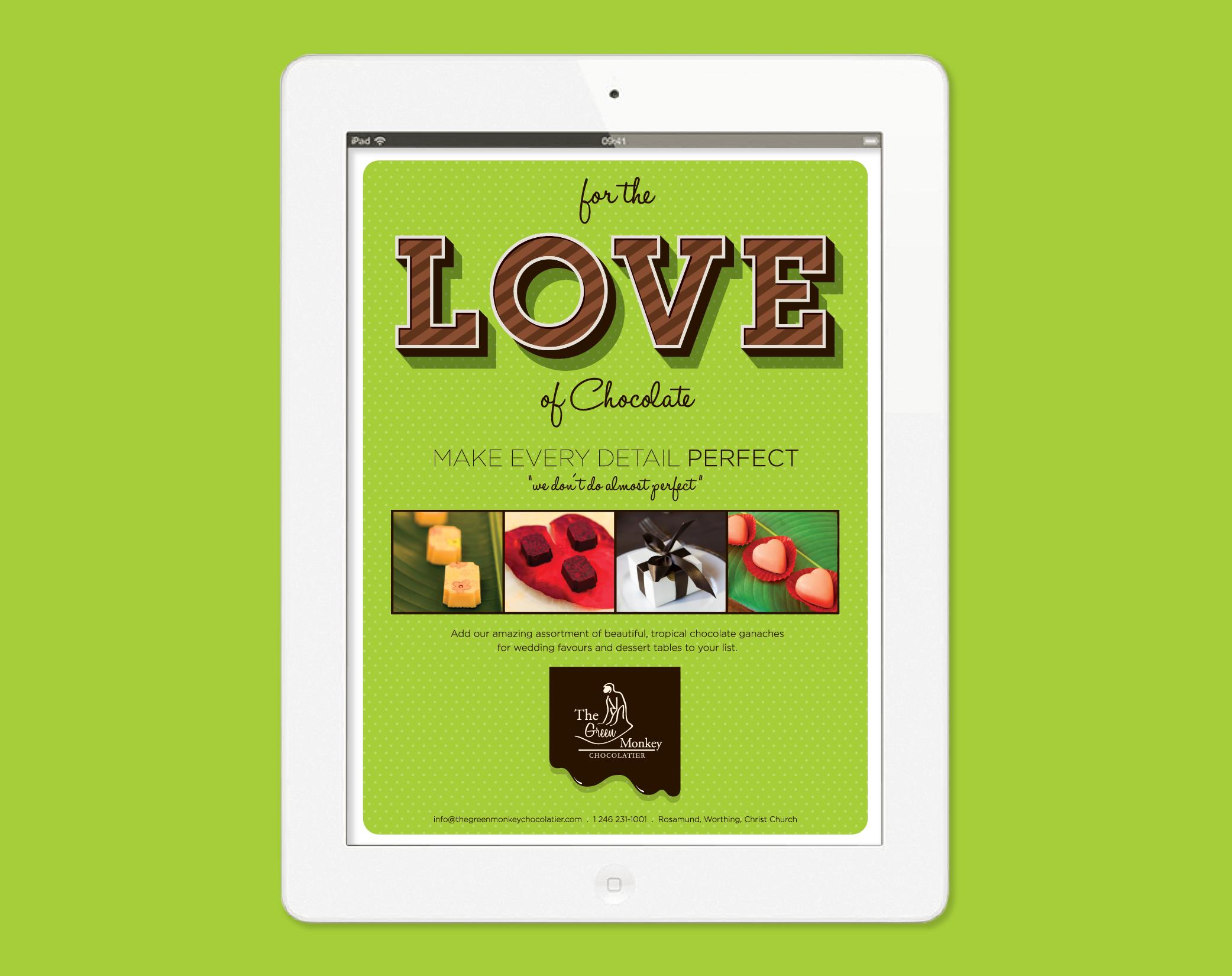 The Green Monkey Chocolatier -BrideLife Online Magazine - Ad