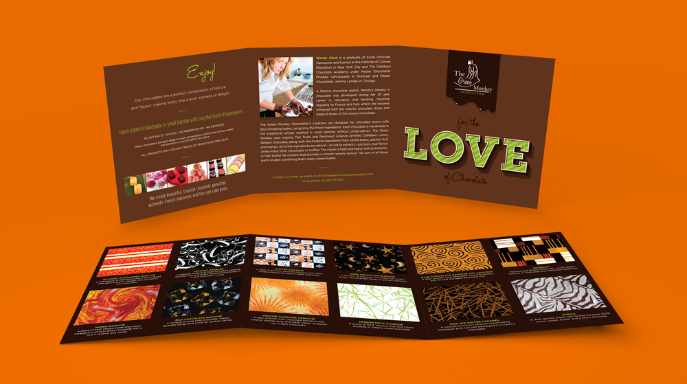 The Green Monkey Chocolatier - Flavour Guide