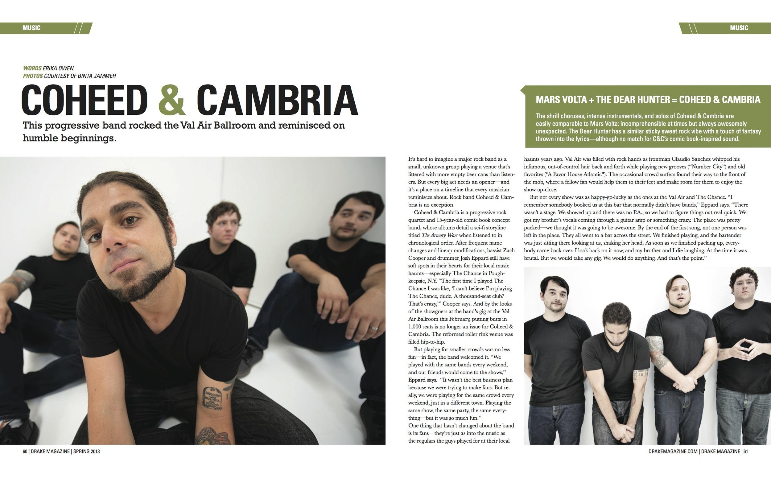 Drake Magazine // Music Section // Spring 2013