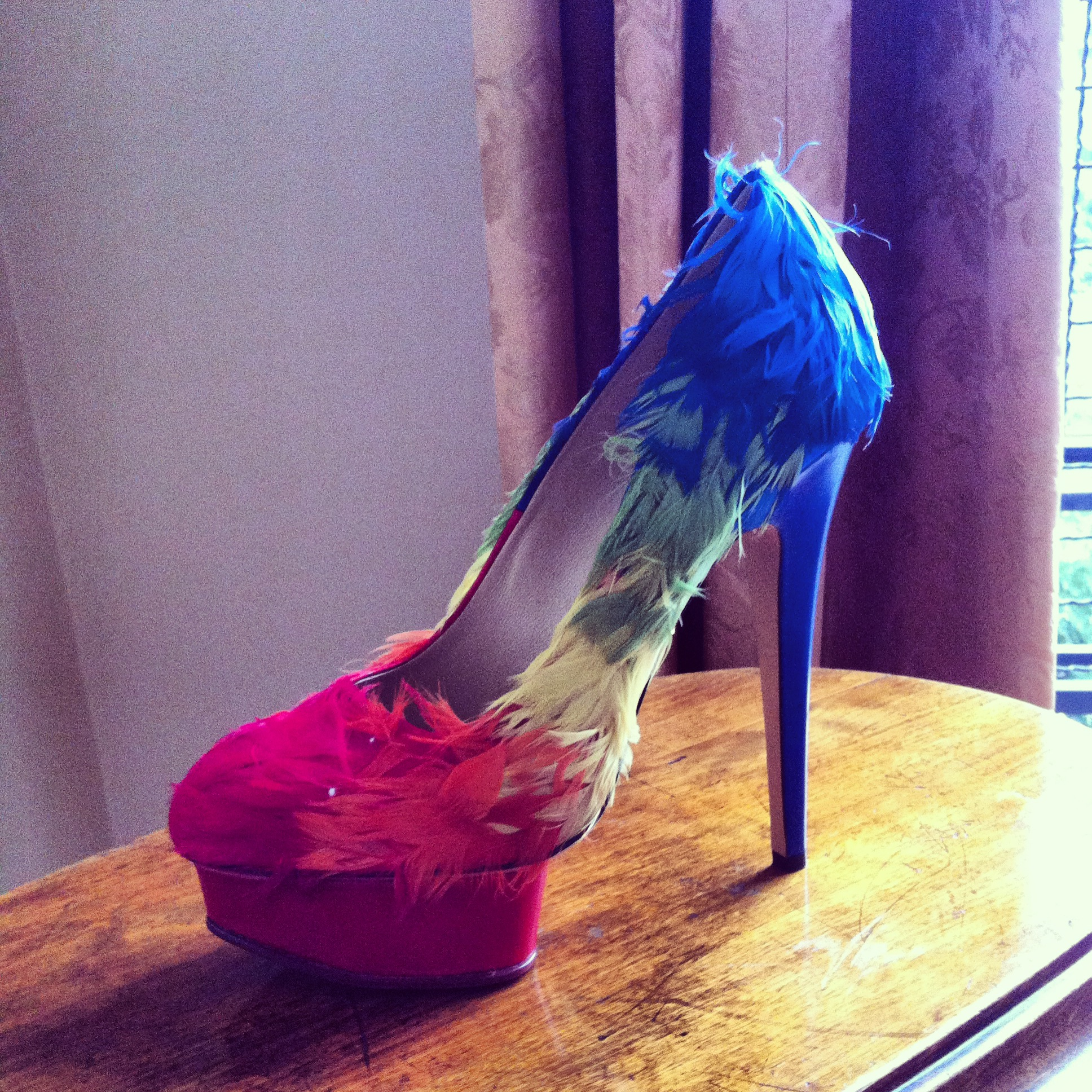 Charlotte Olympia Feathers Dolly Pump