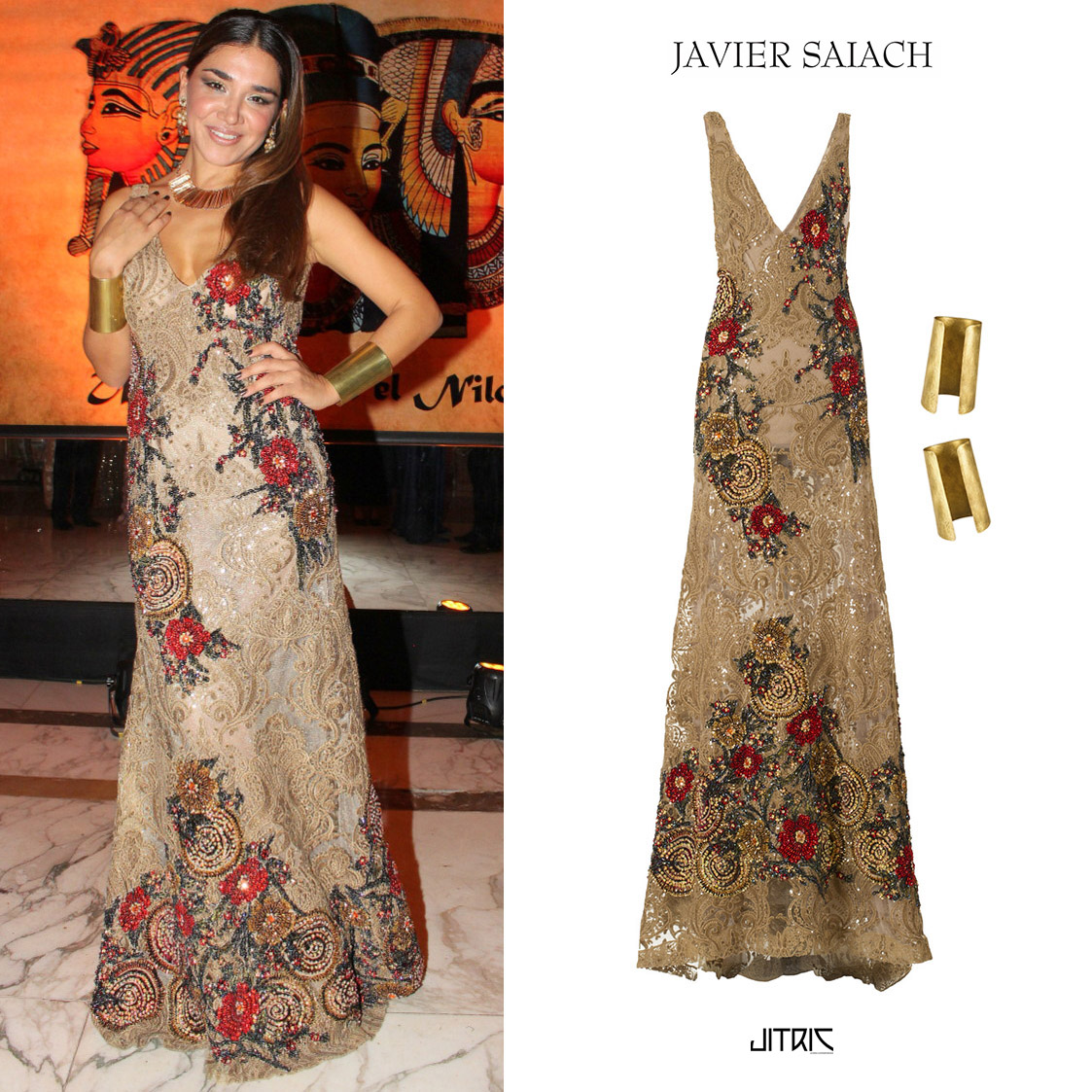Vivi_Gallo_Make_a_Wish_Javier_Saiach_Dress_Vestido_Bordado_2015_Maximiliano_Jitric_Pulsera_Brazalete.jpg