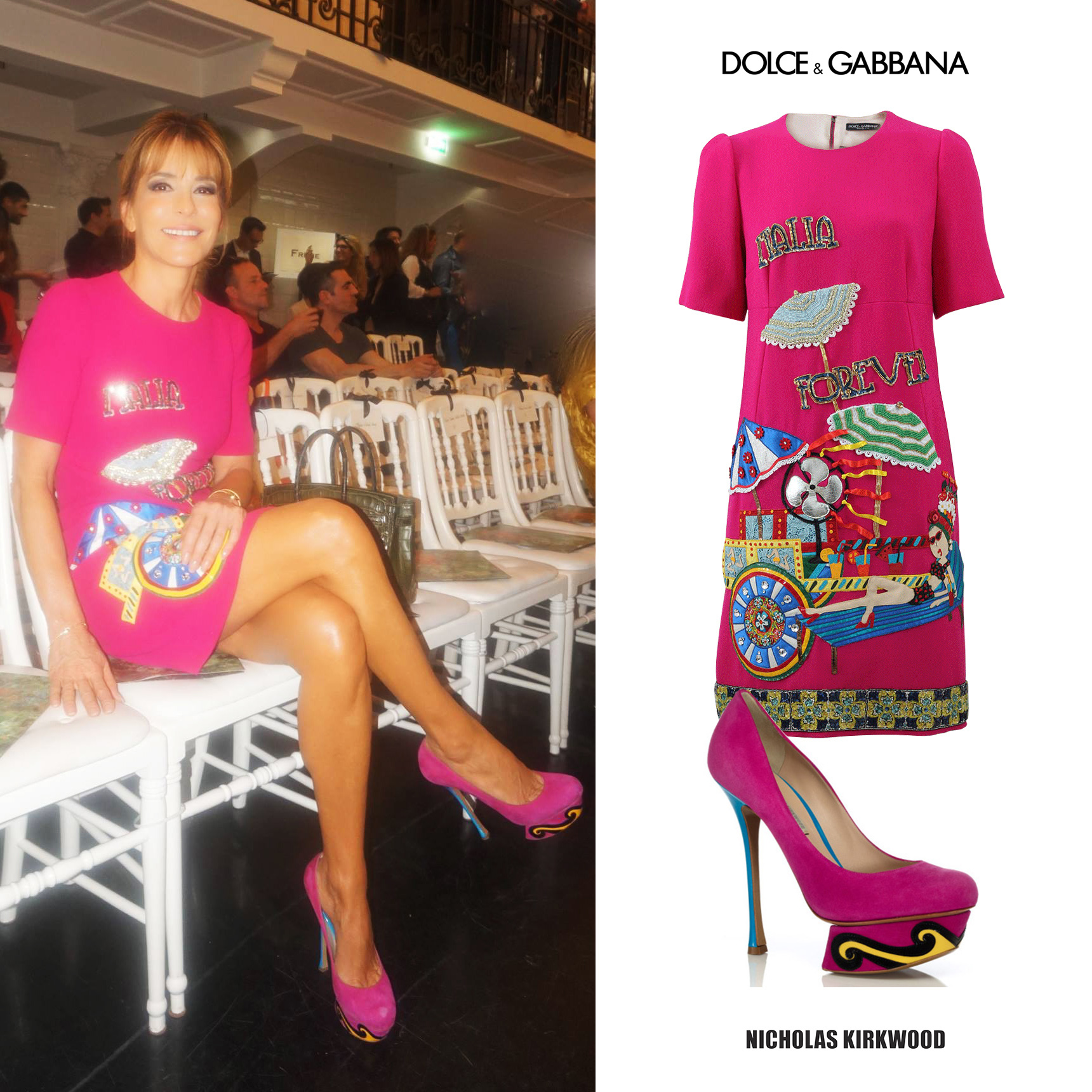 Patricia_Darenberg_Della_Giovampaola_Jean_Paul_Gaultier_Front_Row_Dolce_Gabbana_Pink_Embroidered_Dress_Nicholas_Kirkwood_Pre_Fall_2013_Pink_Platform_Pumps.jpg