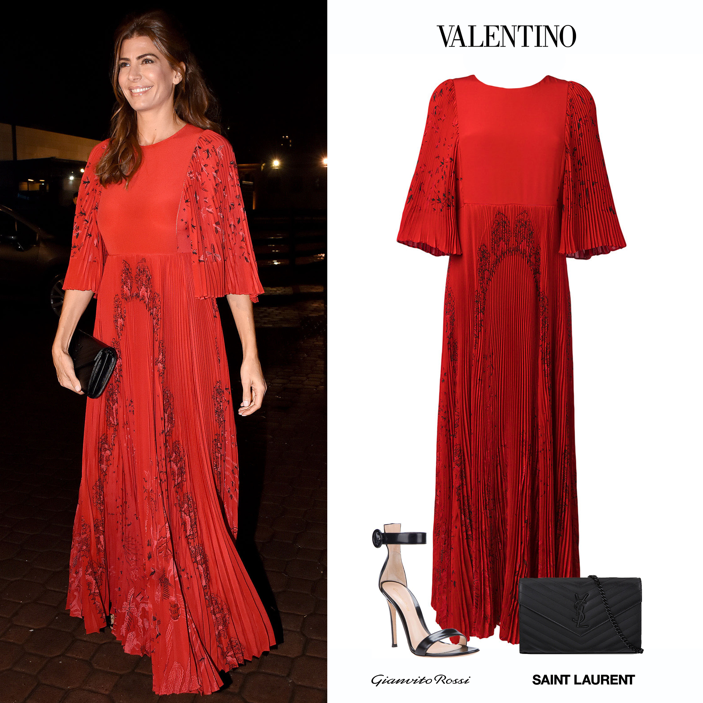 Juliana_Awada_Fundación_Voz_Vestido_Rojo_Valentino_Spring_2017_Long_Sleeve_Red_Dress_Gianvito_Rossi_Sandals_Black_Sandalias_Negras_YSL_Saint_Laurent_Clutch_Bag_Black_Negra.jpg