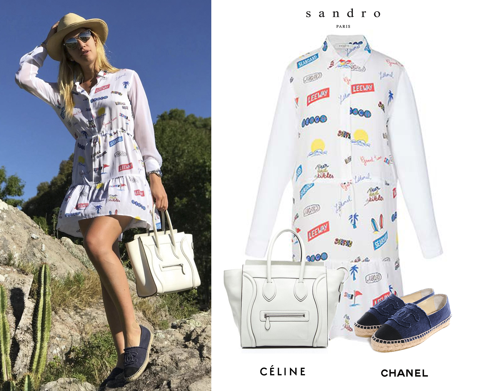 Angie_Angelica_Landaburu_Punta_del_Este_2017_Vestido_Blanco_Printed_White_Dress_Sandro_Paris_Chanel_Spadrilles_Celine_White_Bag.jpg