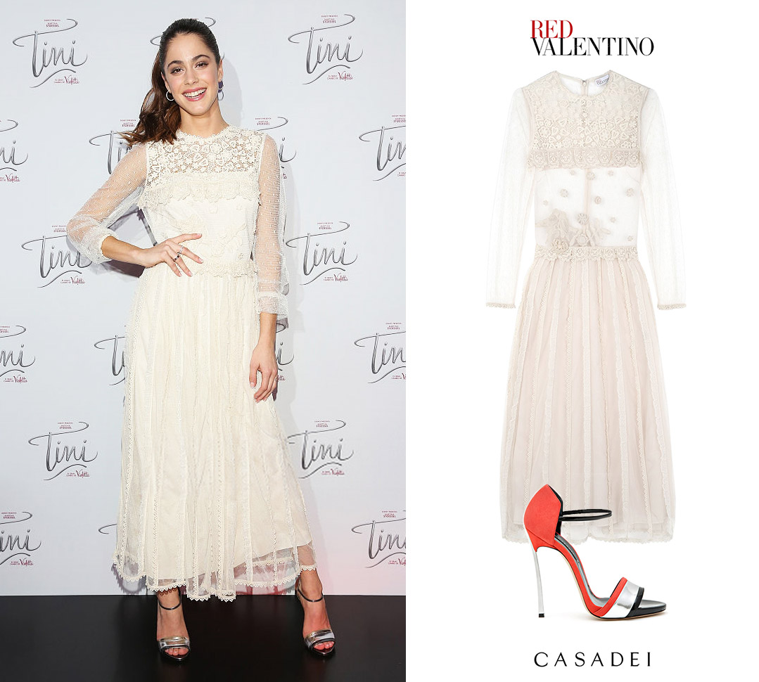 Tini_Martina_Stoessel_Violetta_Mexico_Movie_Red_Valentino_Macrame_Bird_Long_Sleeve_Dress_Vestido_Zapatos_Casadei_Blade_Tiffany_Sandals_Spring_2016.jpg
