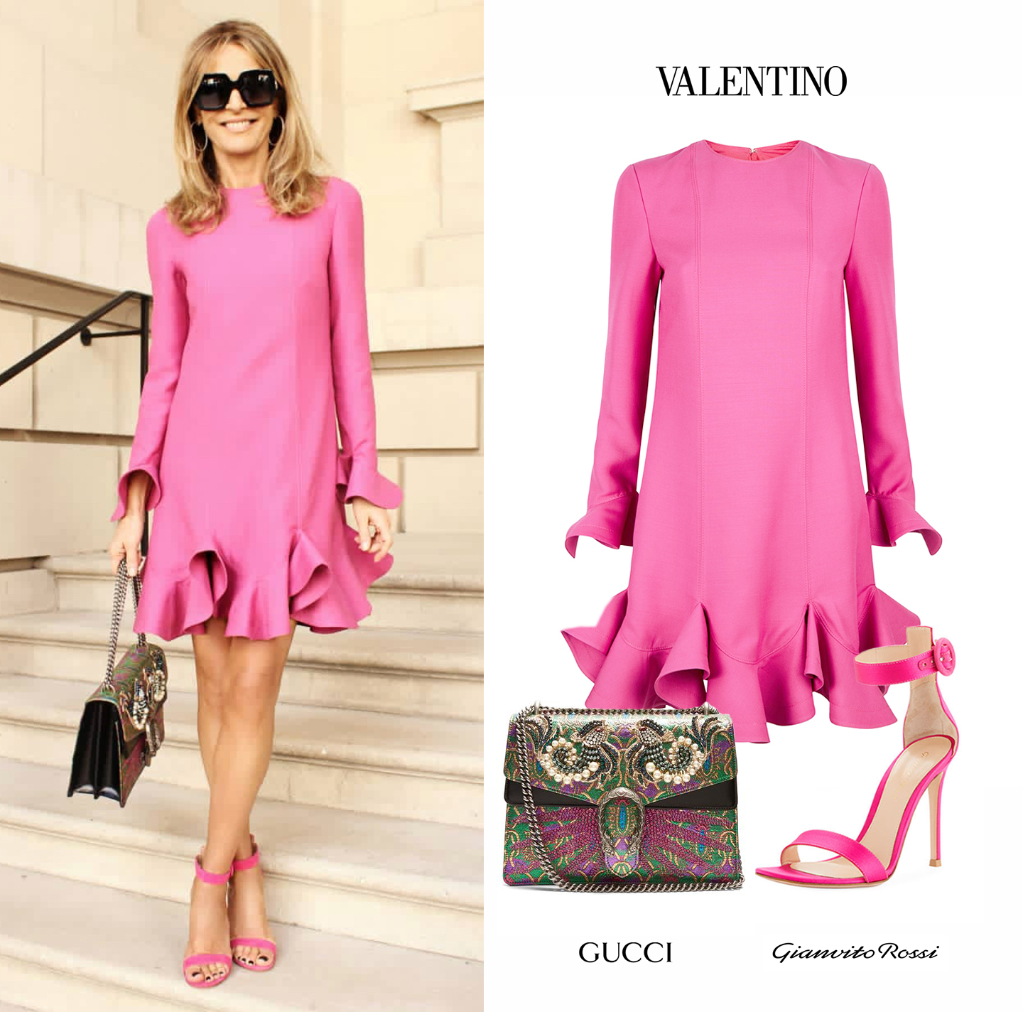 Rossella_Della_Giovampaola_Valentino_Ruffle_Pink_Dress_Gianvito_Rossi_Portofino_Sandals_Gucci_Supreme_GG_Embroidered_Bag.jpg