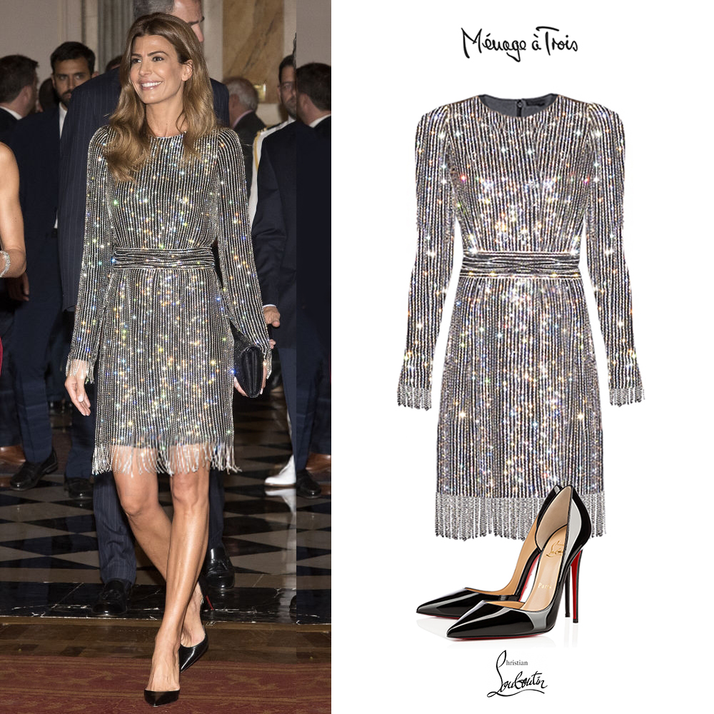 Juliana_Awada_Reyes_España_Espania_Vestido_Brillos_Joyas_Menage_a_trois_long_sleeve_embellished_silver_dress_zapatos_Christian_Louboutin_Iriza_Pumps_Stilettos_Black.jpg