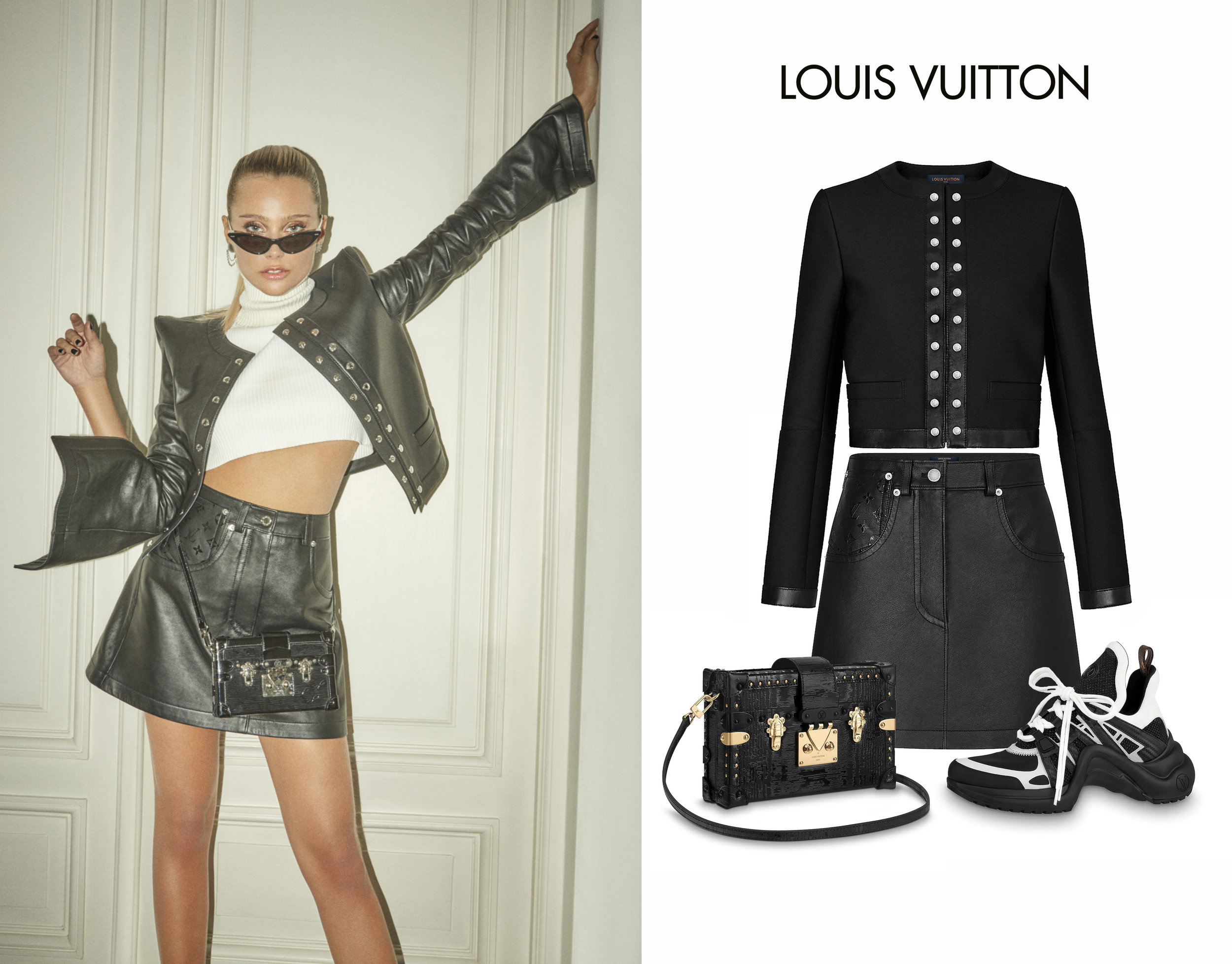 Valentina_Zenere_Louis_Vuitton_Argentina_Snap_Button_Jacket_Leather_Skirt_Archlight_Sneakers_Bag.jpg