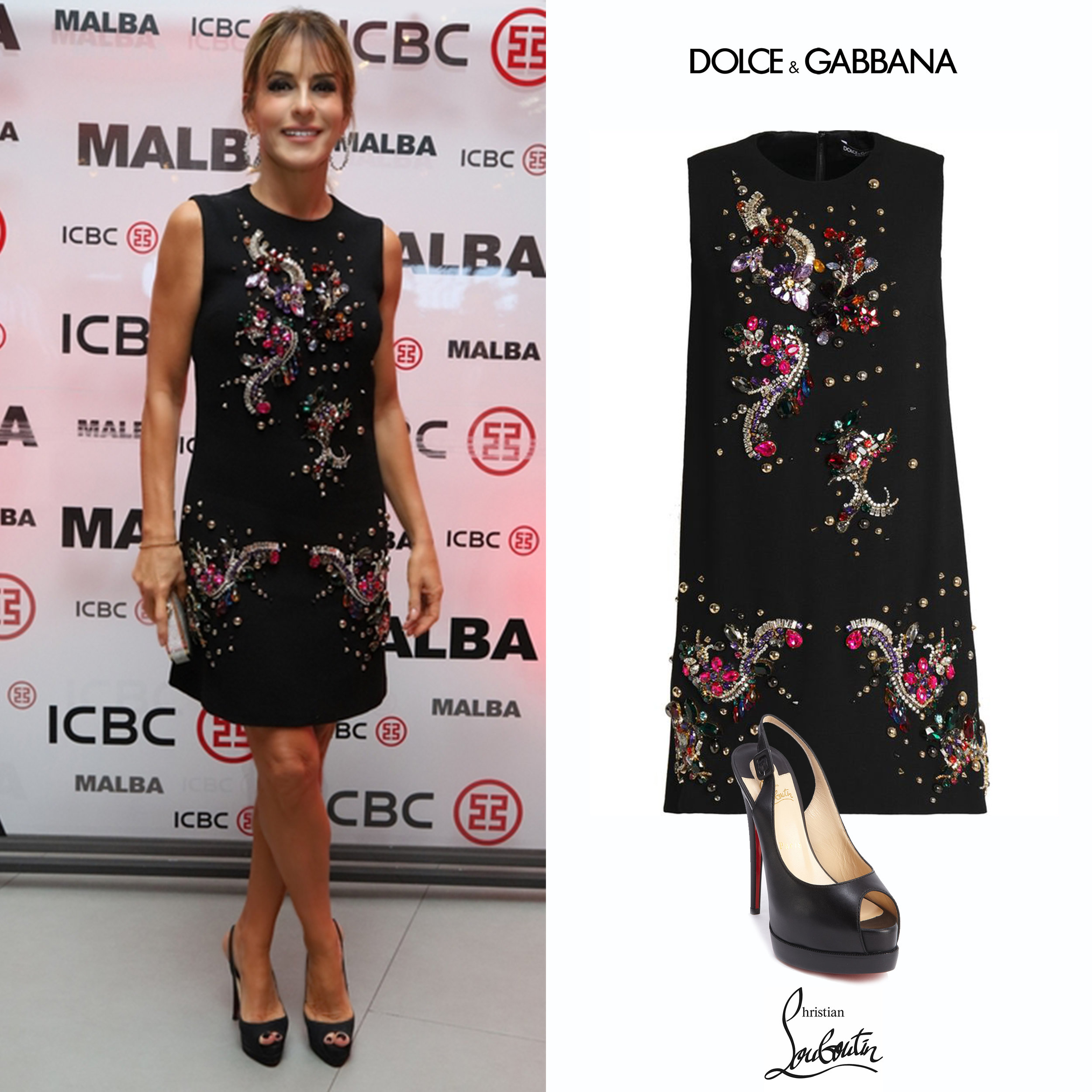 Patricia_della_Giovampaola_Darenberg_Malba_Buenos_Aires_Vestido_Dolce_Gabbana_Crepe_Crystal_Embroidered_Dress_Christian_Louboutin_Royal_Palais_Slingback_Peep_Toe_Zapatos_Black_Negros.jpg
