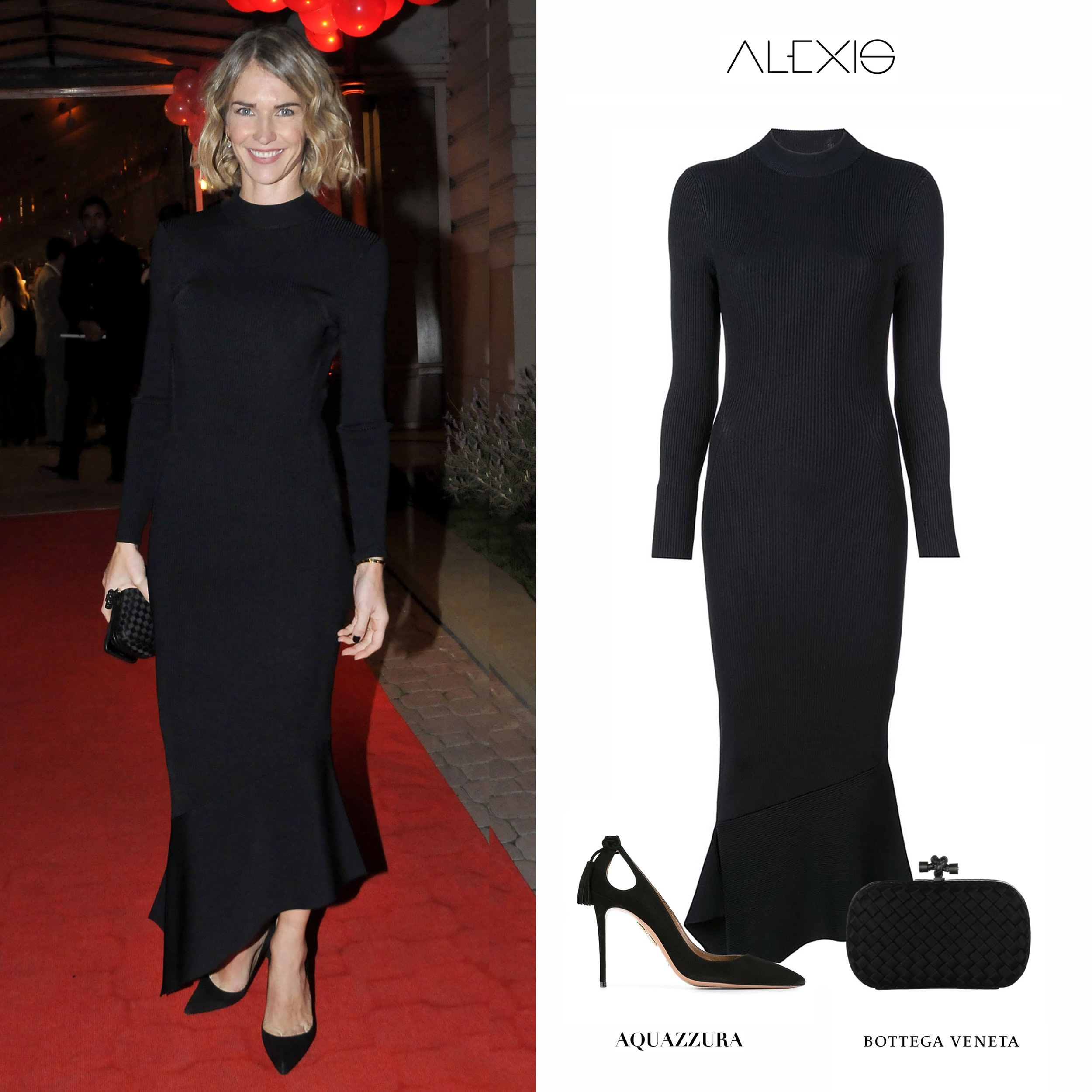 Julieta_Spina_Fundacion_Huesped_Vestido_Negro_Long_Sleeves_Black_Asymmetric_Dress_Alexis_Zapatos_Forever_Marilyn_Aquazzura_Shoes_Pumps_Bottega_Veneta_Intrecciato_Knot_bag_Clutch_Cartera.jpg