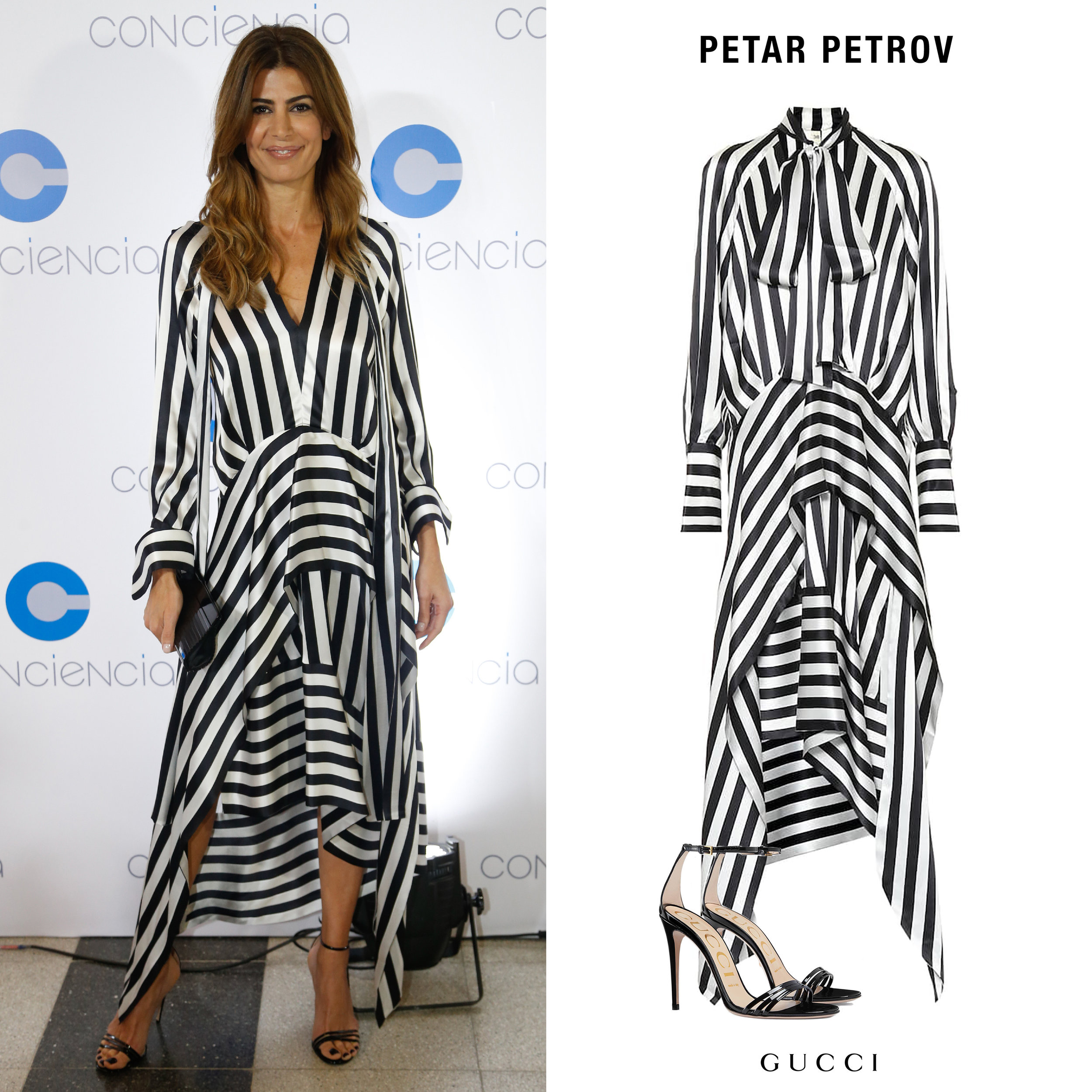 Juliana_Awada_Gala_Conciencia_2019_Vestido_Rayas_Striped_Dress_Petar_Petrov_Sandalias_Black_Strappy_Sandals_Gucci.jpg