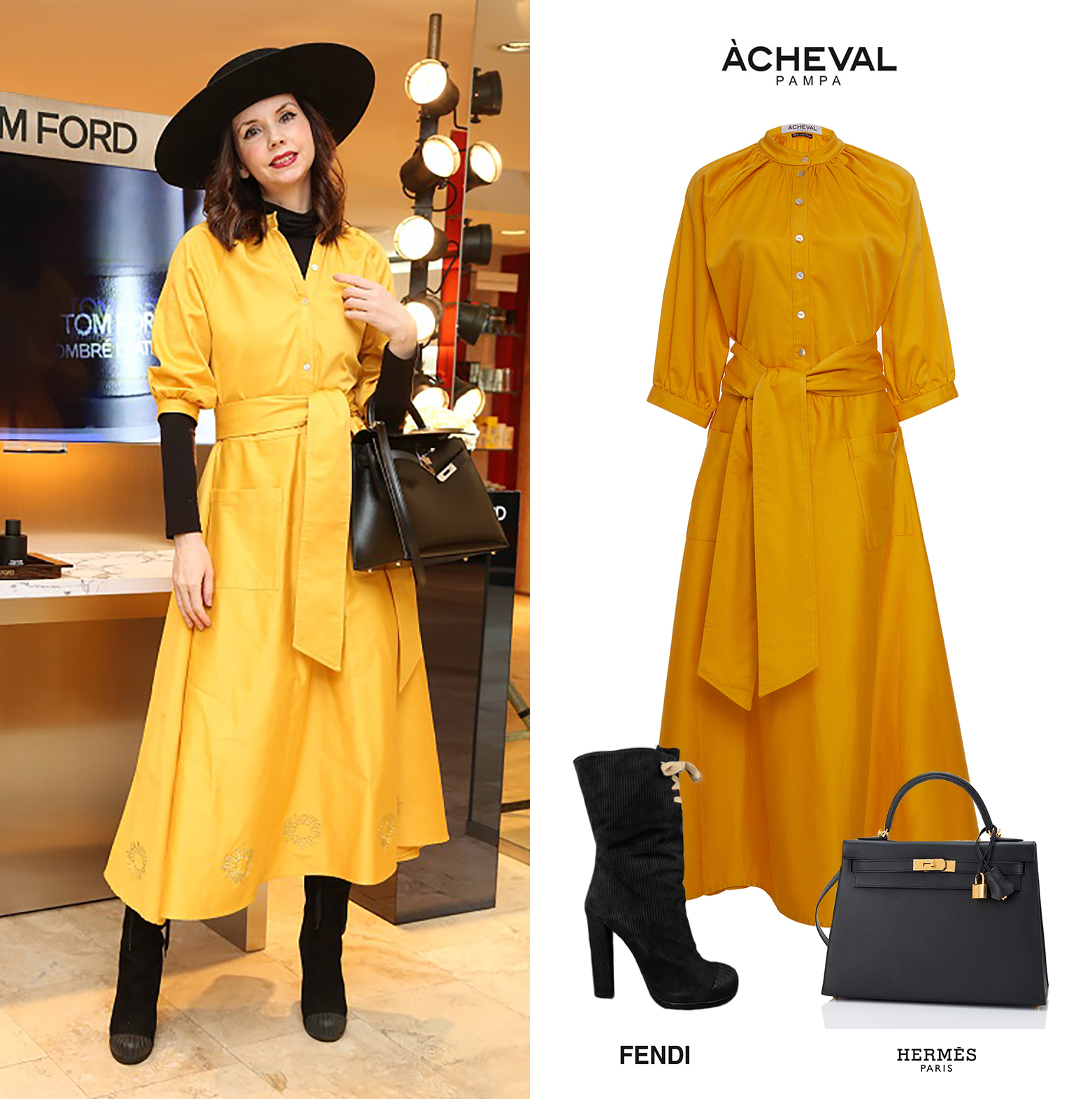 Marina_Achaval_Tom_Ford_Beauty_Acheval_Pampa_Yellow_Argentina_Dress_Face_Lace_Up_Boots_Botas_Vestido_Amarillo_Cartera_Kelly_Negra_Black_Bag_Hermes.jpg