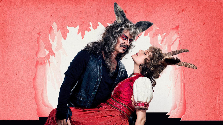Øystein Røger som Ulven og Mariann Hole som Geita. Fotograf: Øyvind Eide