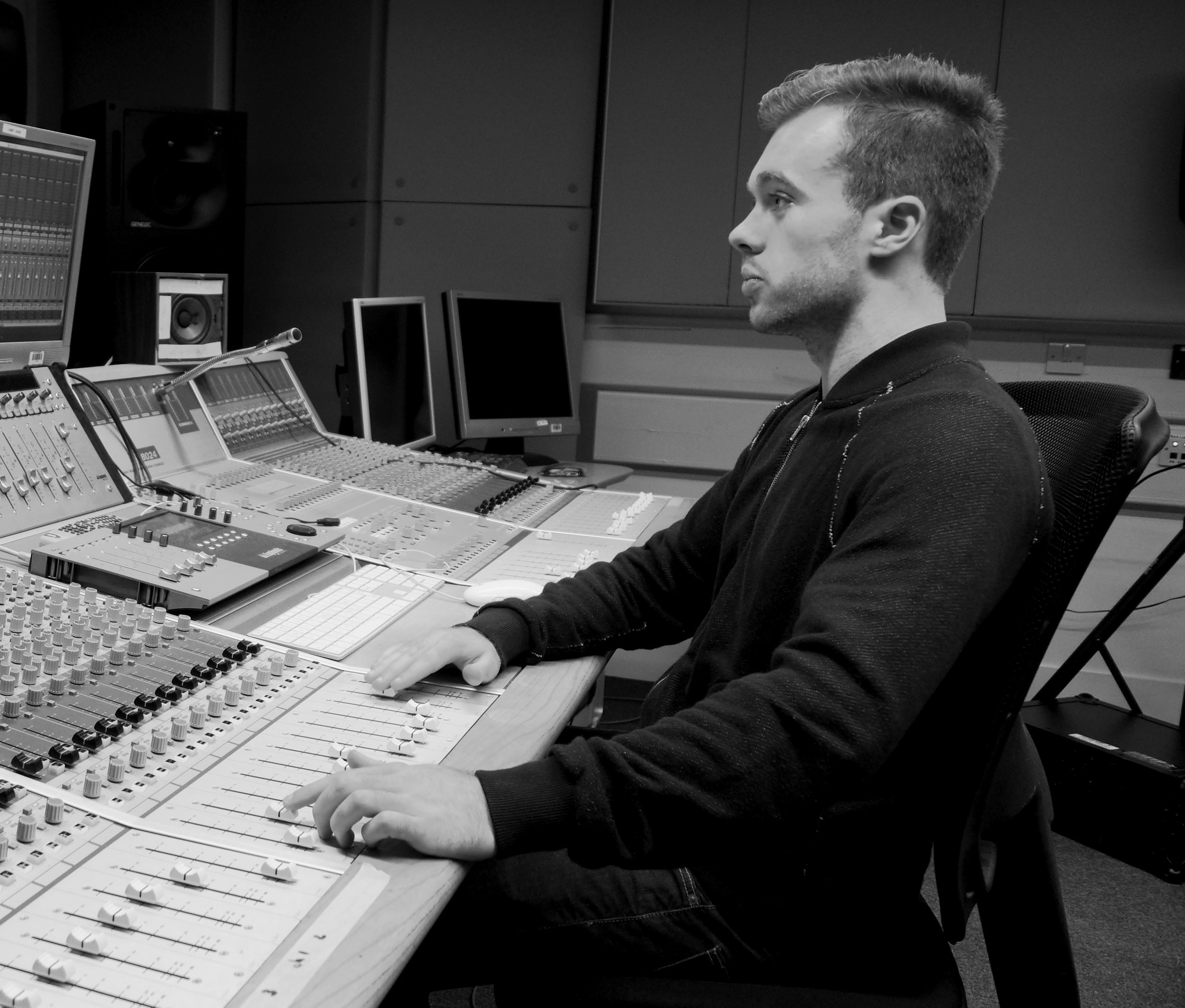 Producer and Composer Oli Harrison.