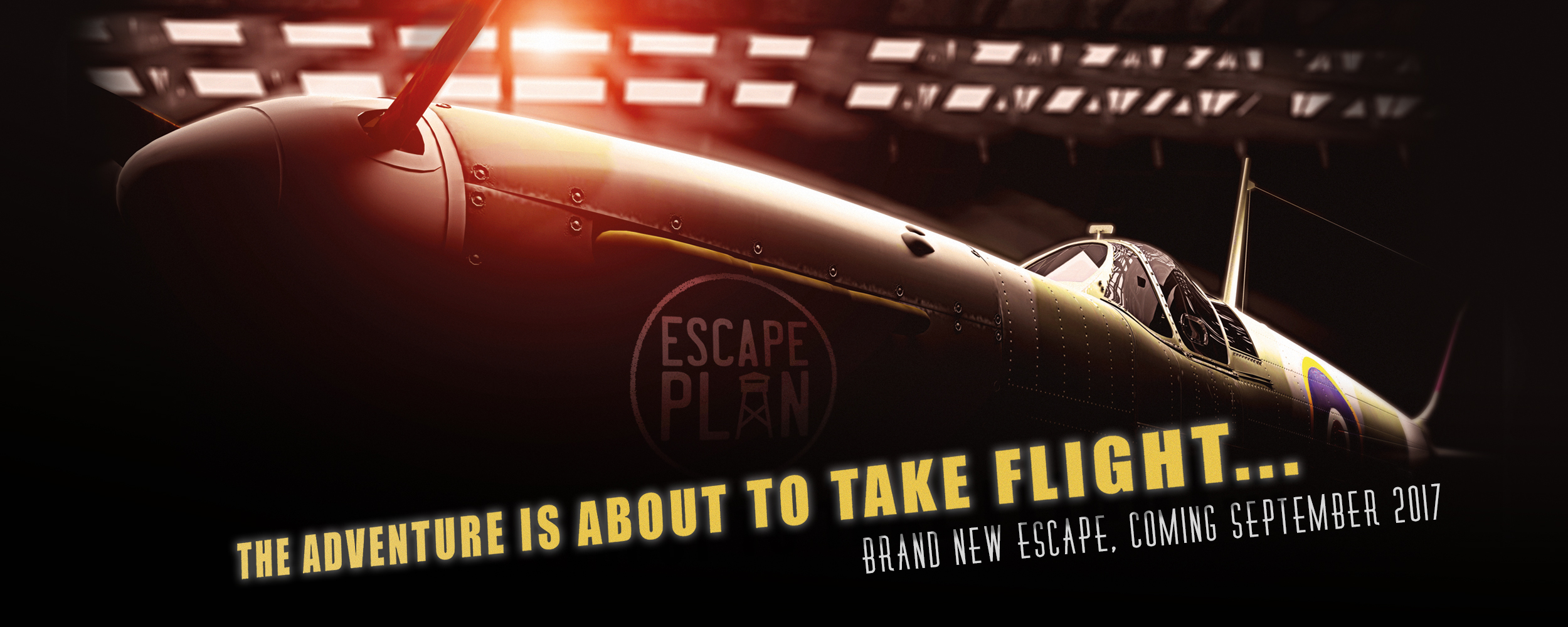 Spitfire promo shot for The Battle for Britain, the new escape room experience from Escape Plan Ltd.