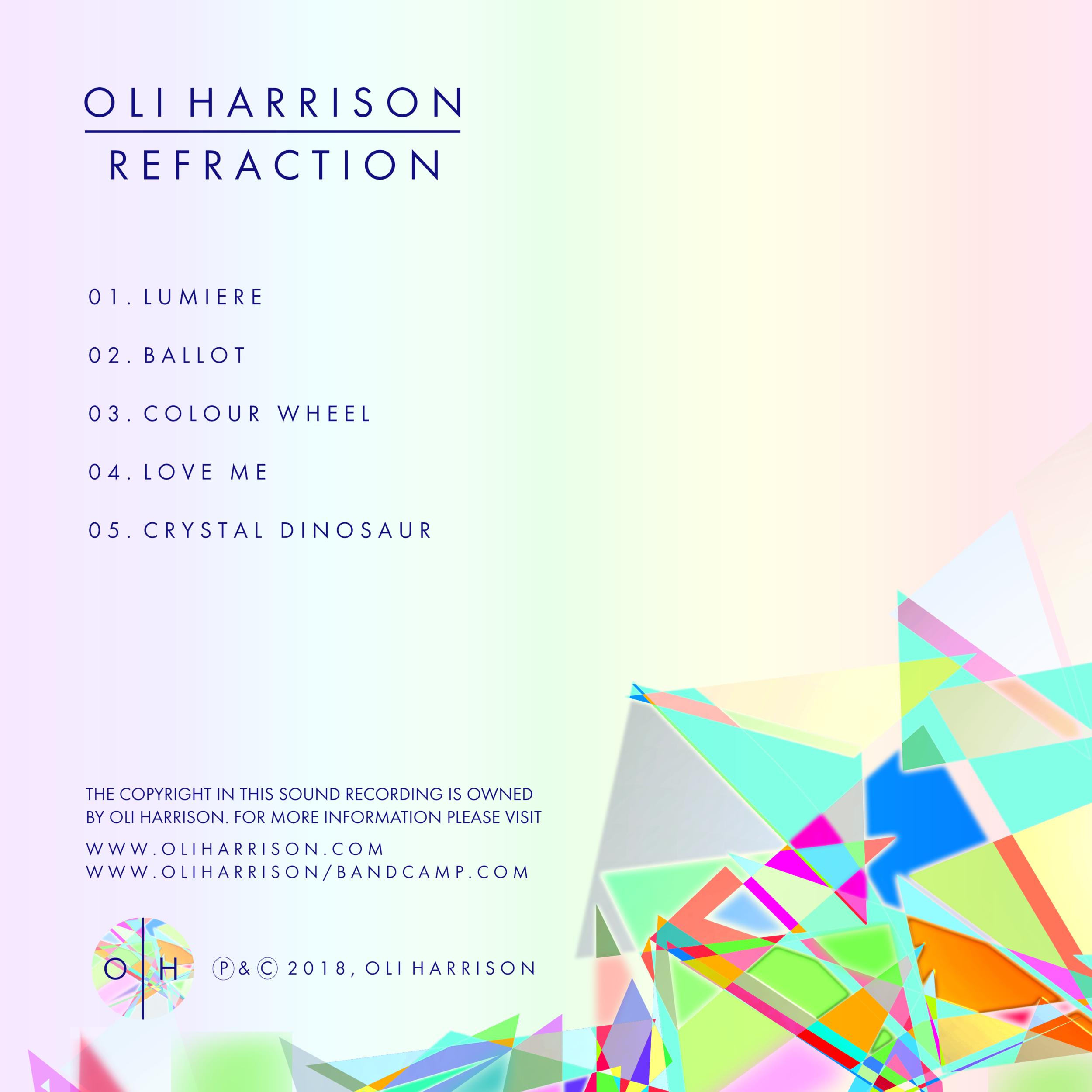 Refraction EP by Oli Harrison - Tracklist.