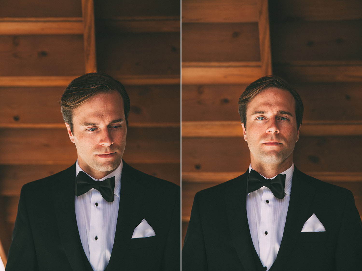Groom on wooden background