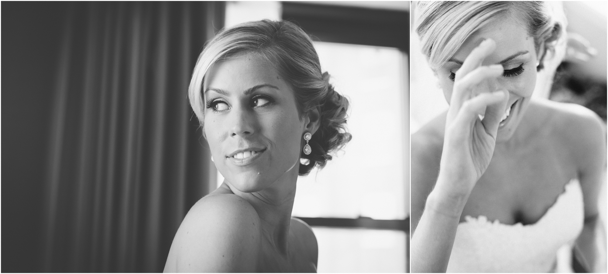 Portrait of bride as she is getting ready
