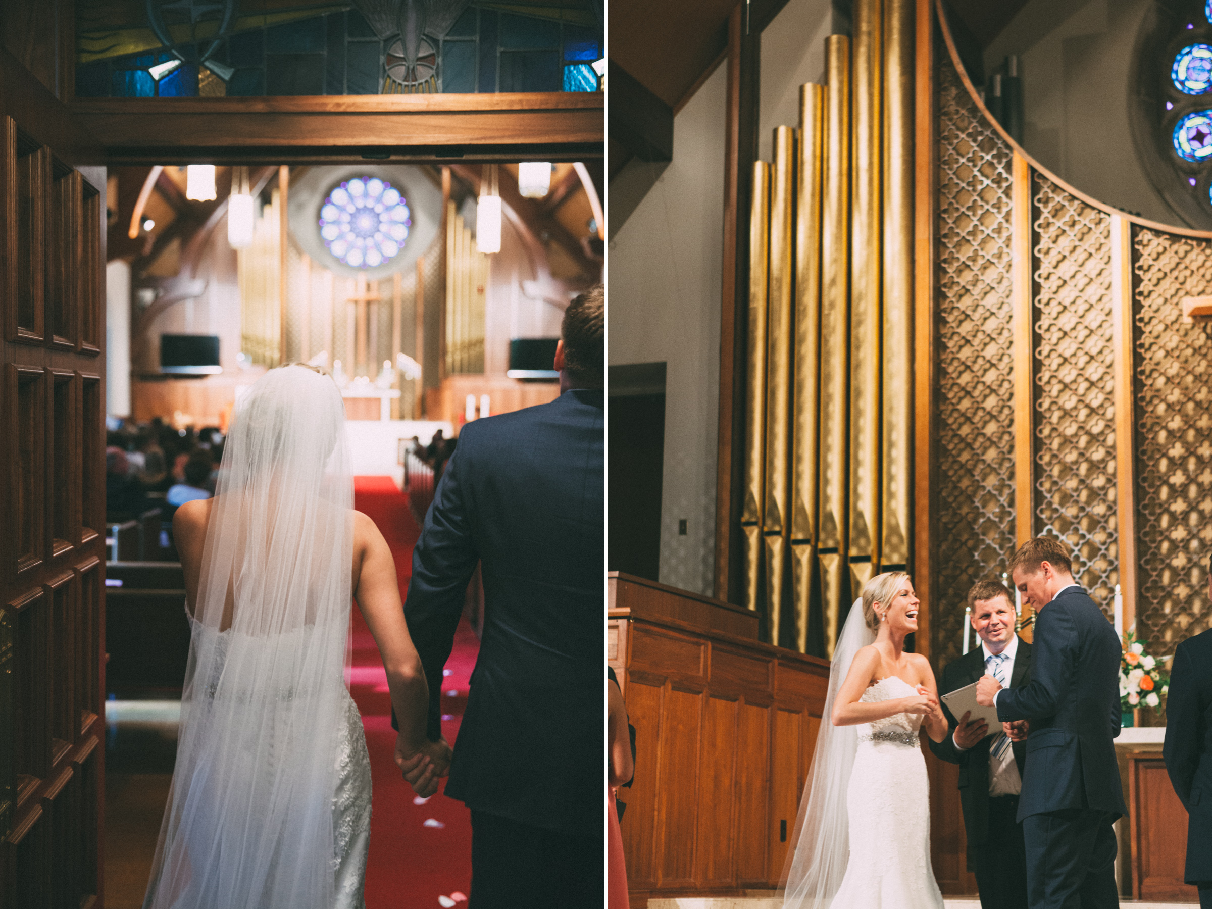 Bride and groom at their wedding ceremony