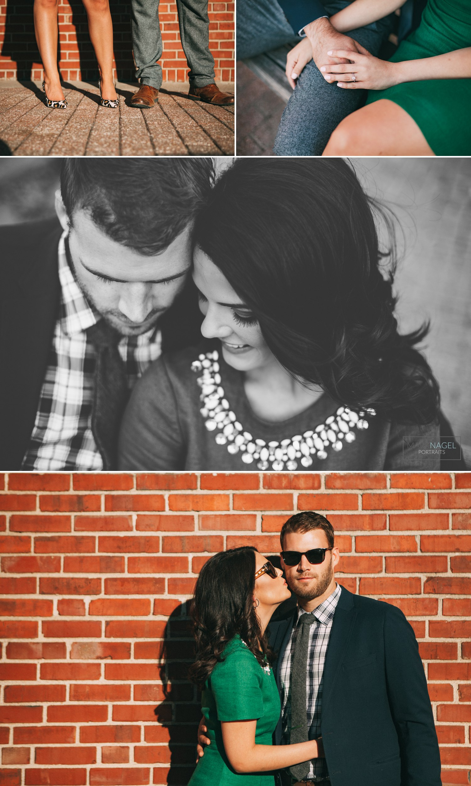 engagement photo session downtown kansas city urban