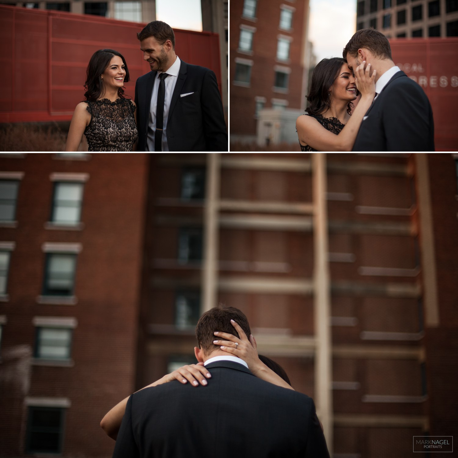 dressed up classy - urban engagement session