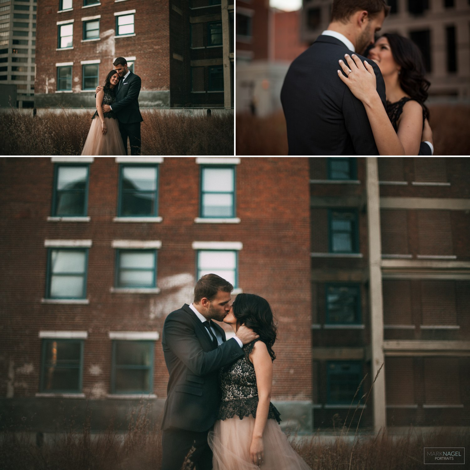 engagement photo session in downtown kansas city