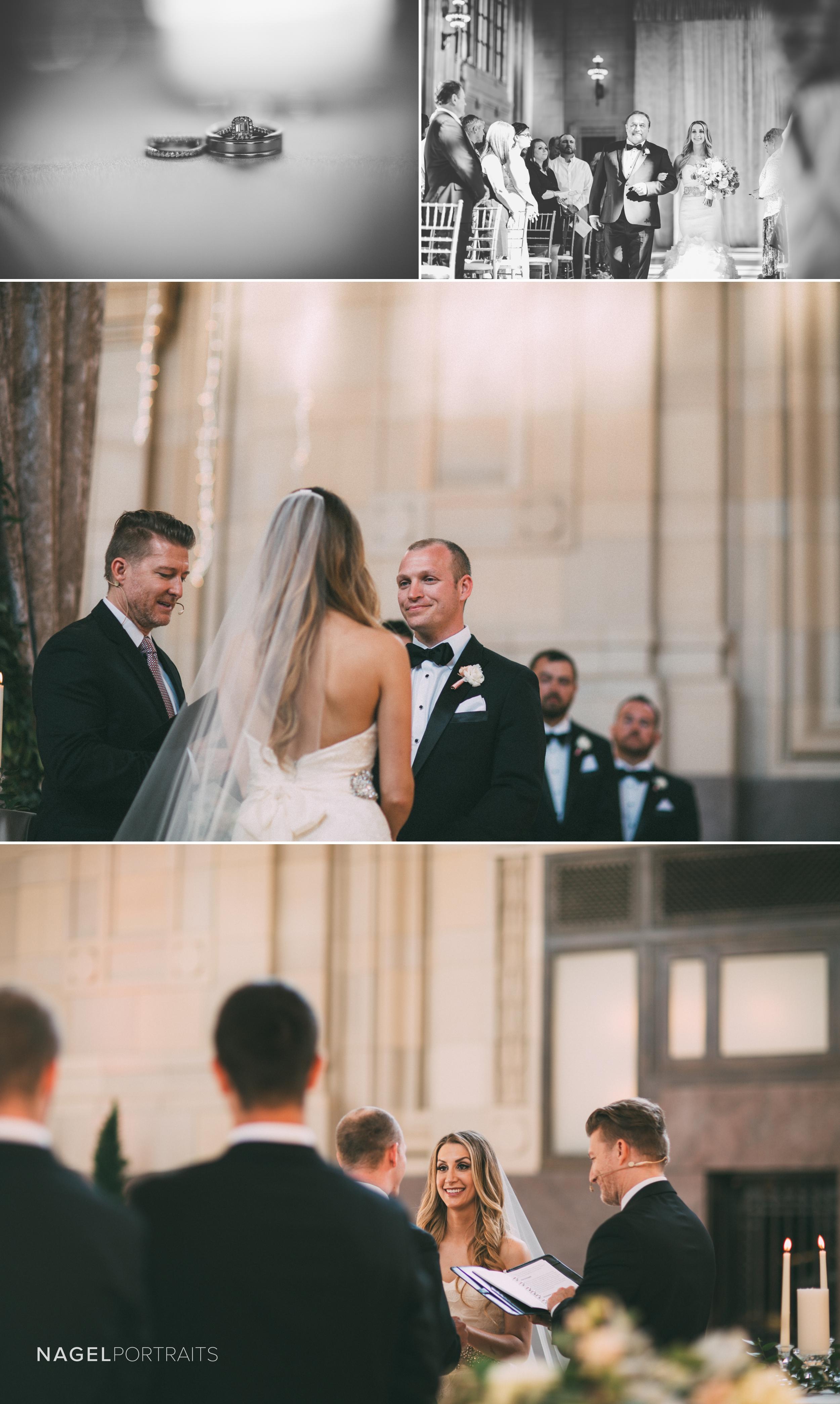 wedding ceremony in union station kansas city