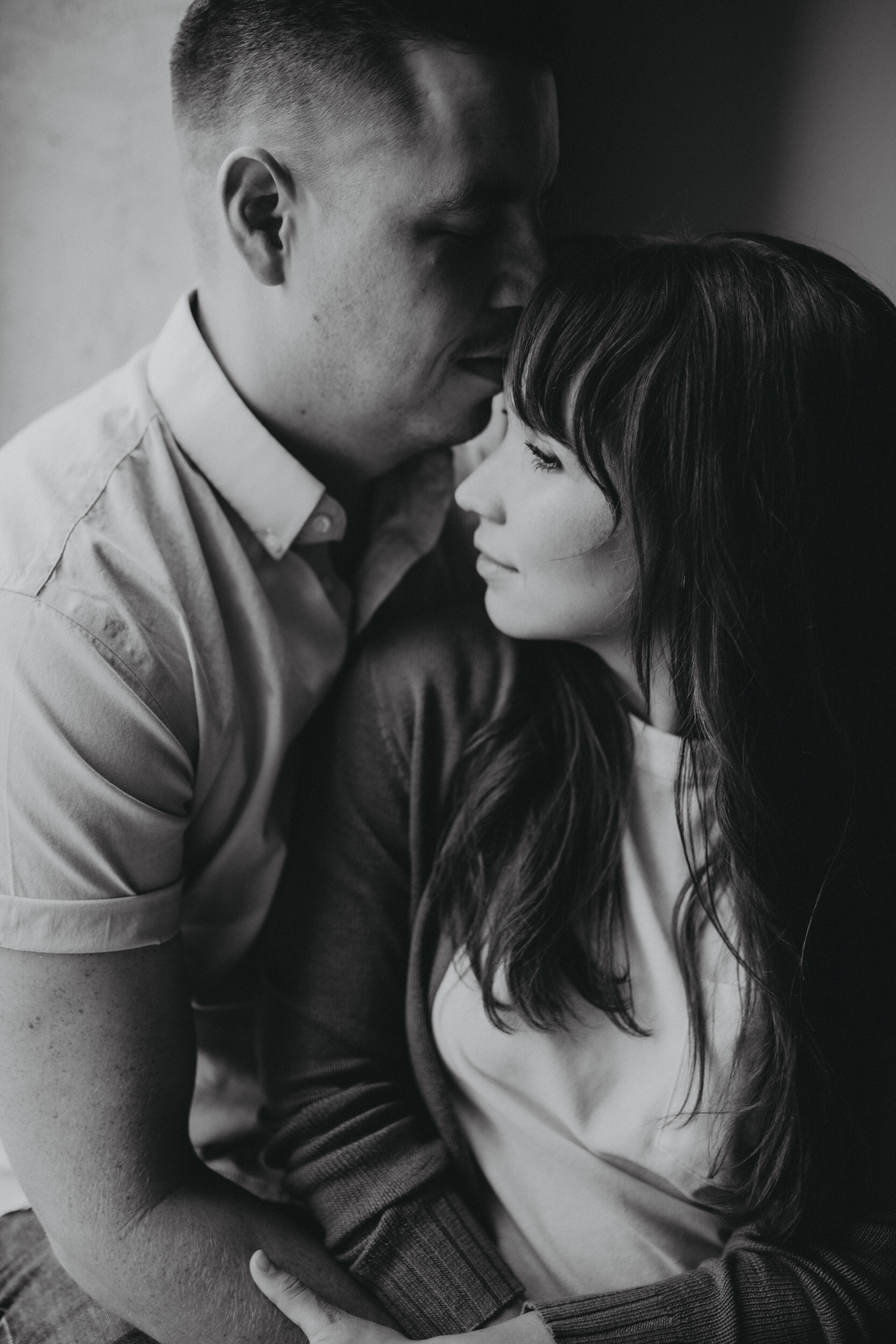 intimate engagement portrait