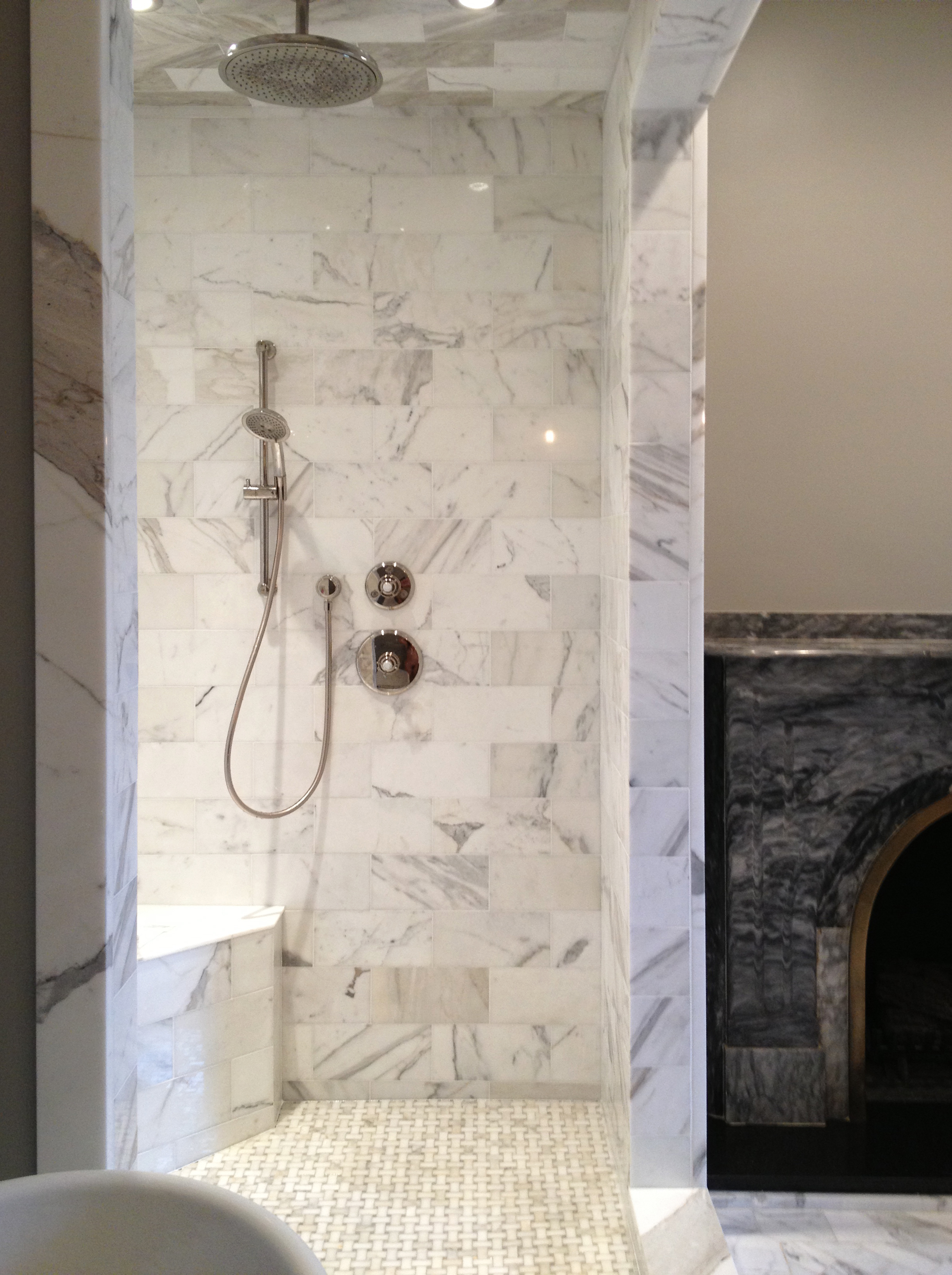 Calacatta 6x12 Shower