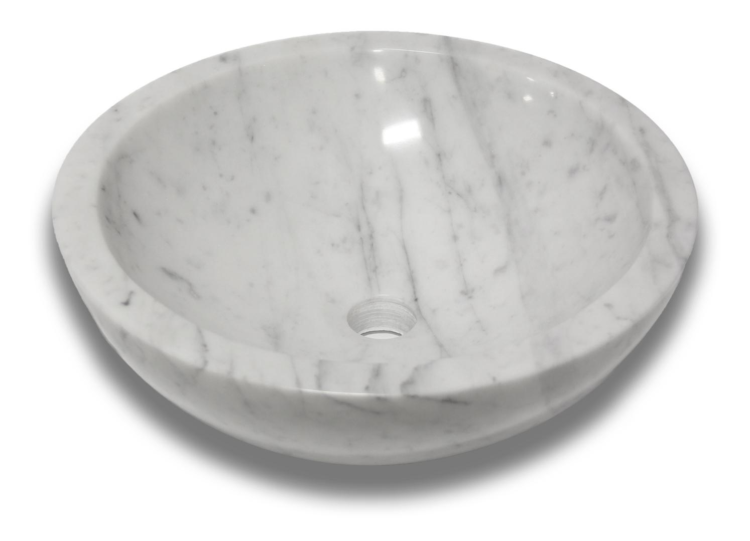 Venatino Carrara Round Vessel