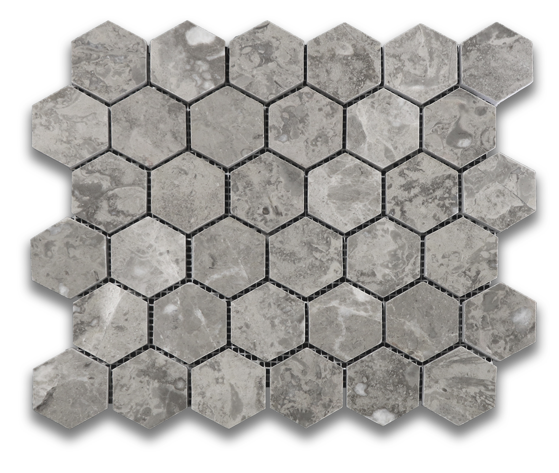 Sage Gray Hexagon