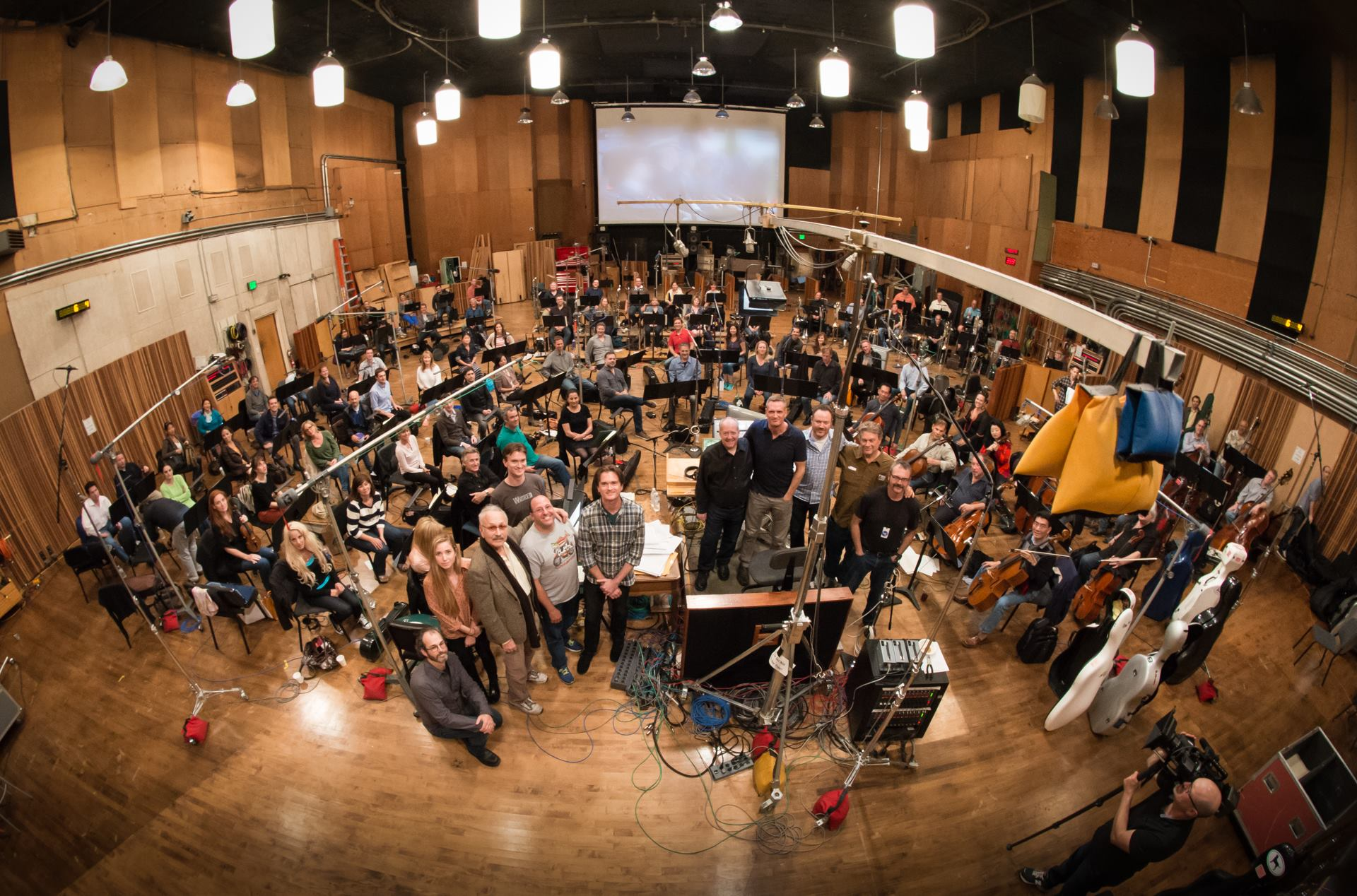 The orchestra from   X-Men: Days of Future Past   at the Alfred Newman Scoring Stage at Fox Studios. Photograph by Larry Mah.