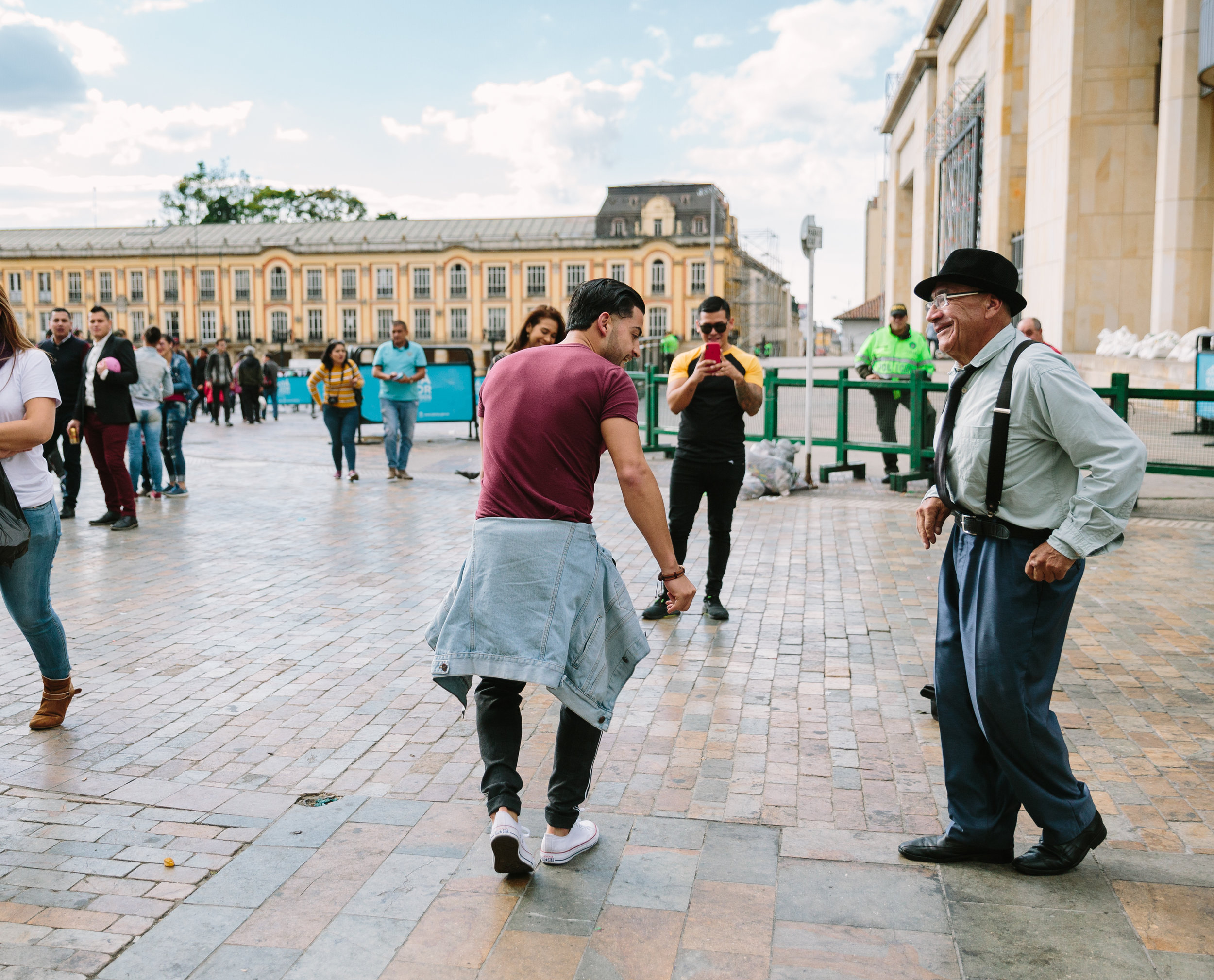 Dancing in Bolivar Square
