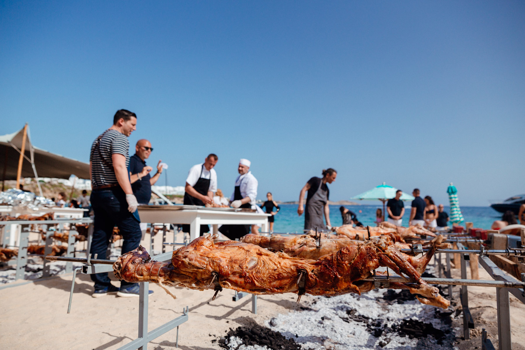 Greek Orthodox Easter celebration at Nammos beach club