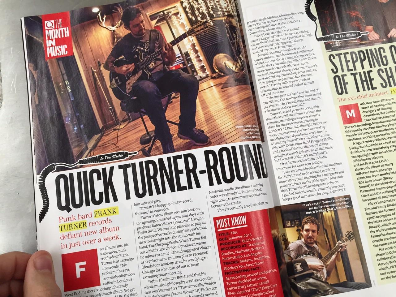 Q Magazine 2 page spread, Feb 2015