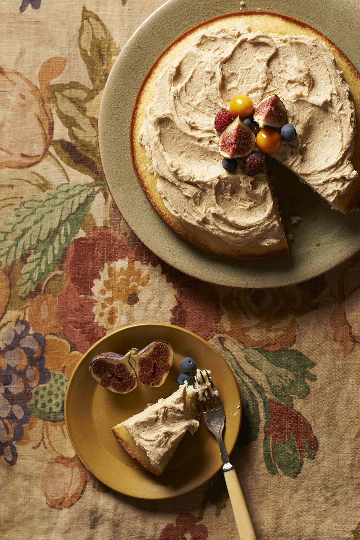 Fabric and Food Cake