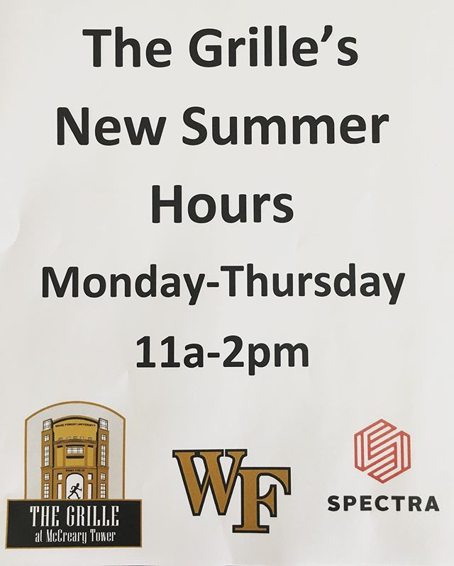 New Summer Hours! We will be open Monday-Thursday from 11am-2pm. Come by and see us! We will resume normal hours in August. 🏈 🏟 🍔