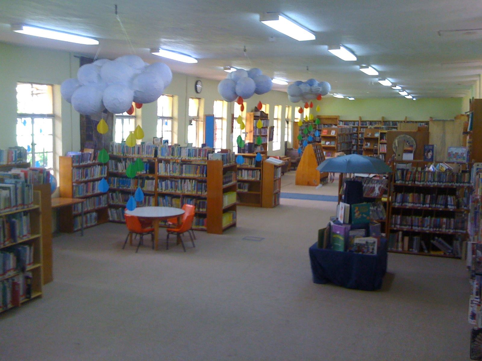 From the Junior Non-fiction area looking towards the Secondary collection.