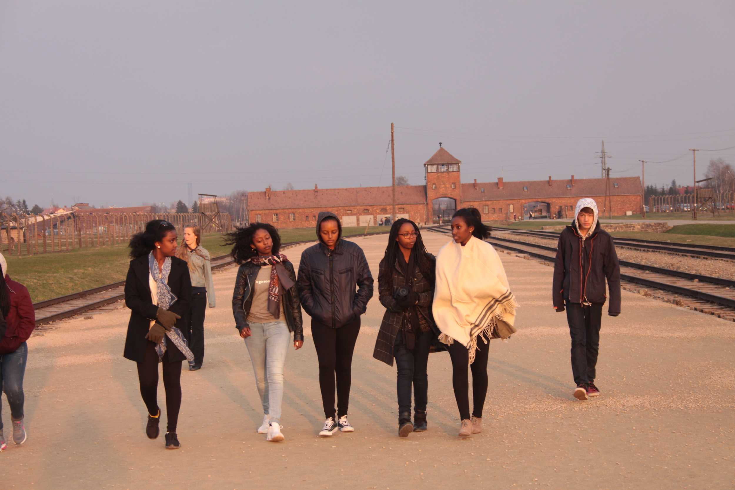 Outside Birkenau Death Camp, near Auschwitz