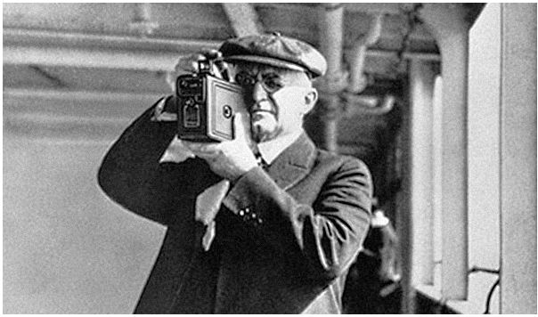 "The first film camera was pioneered by George Eastman called the ""Kodak"" in 1888."