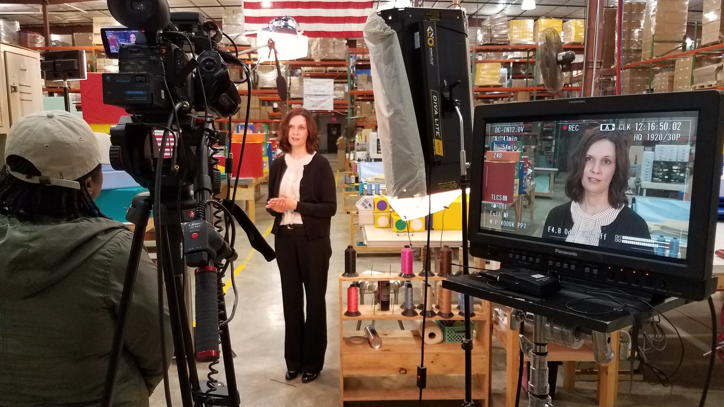 Interviewing VP of Marketing-Equipment Division, Kelly Madden