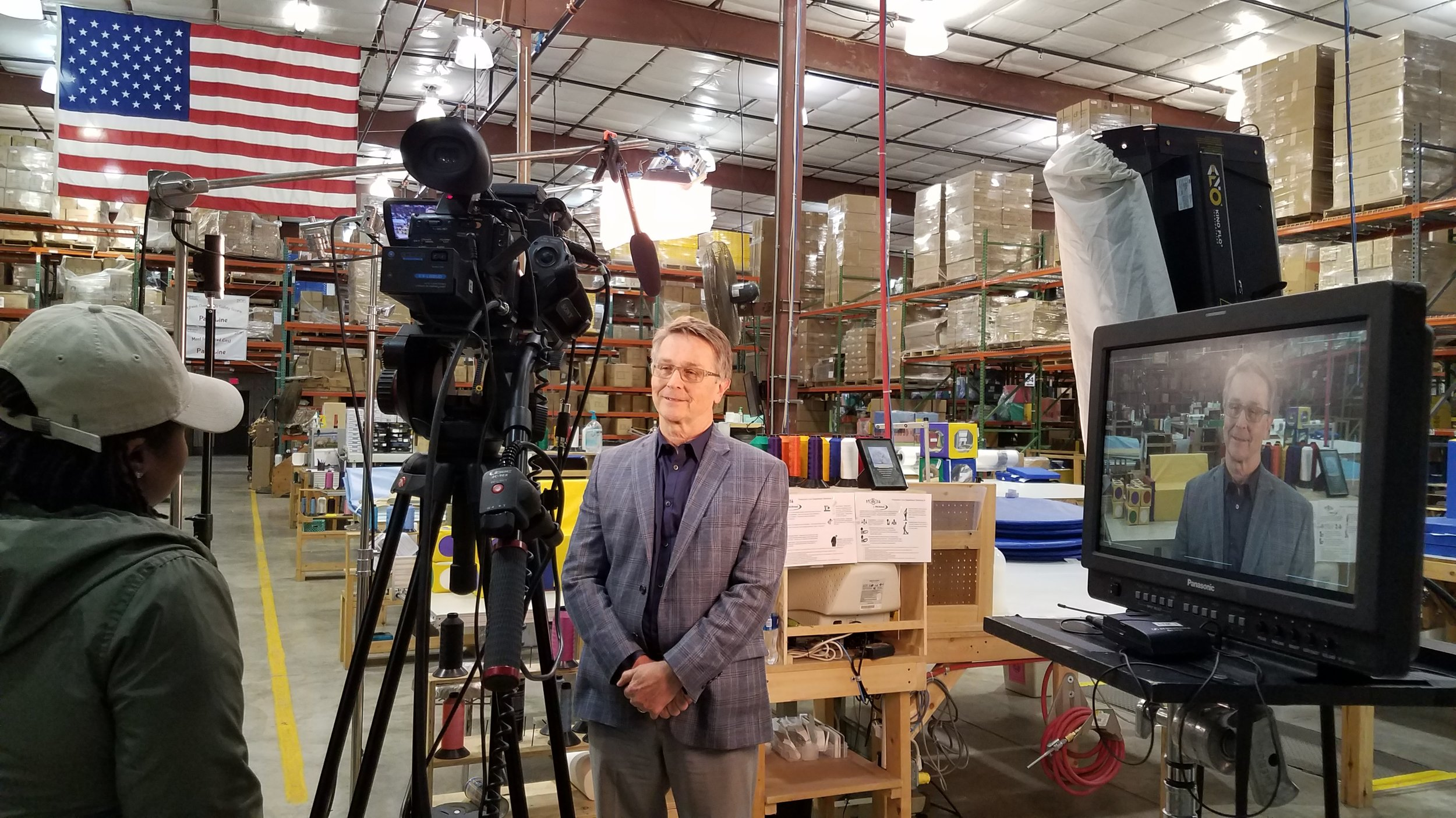 Interviewing VP of Sales- Equipment Division, Tim Lynch.