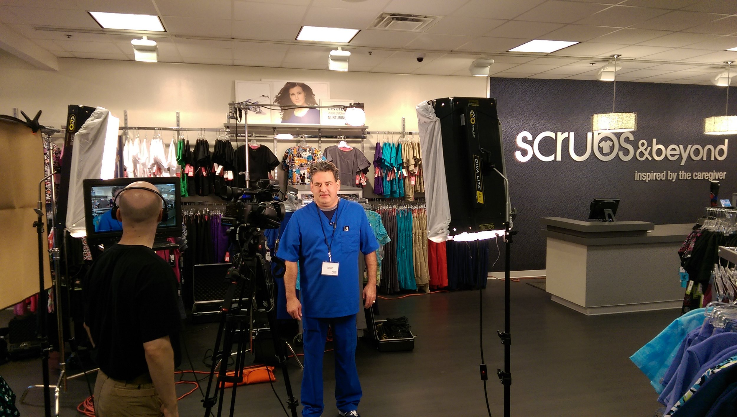 On set with Scrubs and Beyond