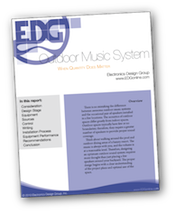 White Paper exploring outdoor music systems by Electronics Design Group