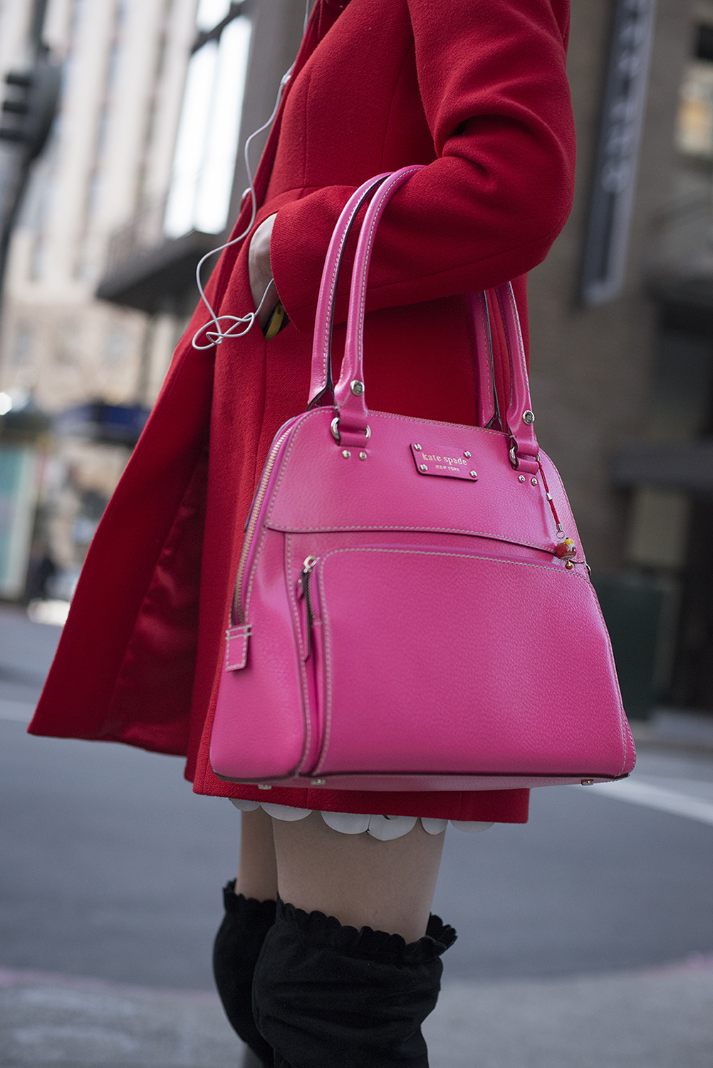 Young Woman with Pink Purse