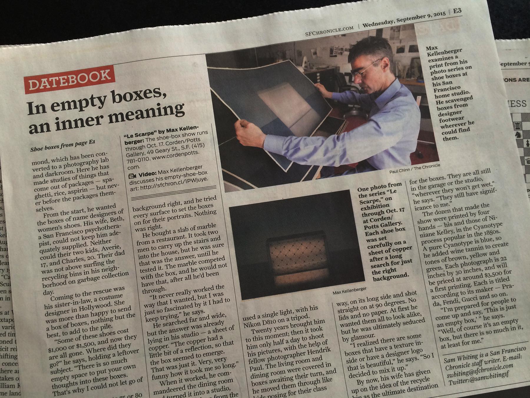 SF Chronicle - Article by Sam Whiting - Photos Paul Chinn