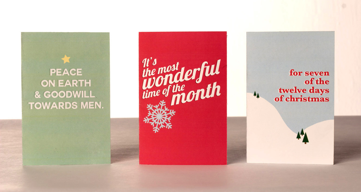 Direct mailer holiday cards