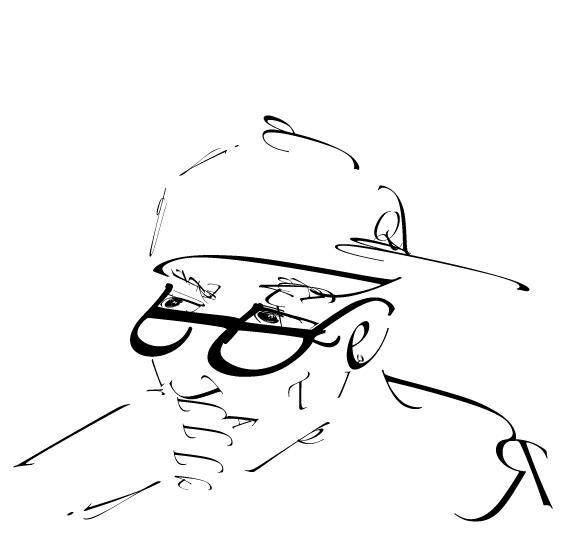 a type self-portrait