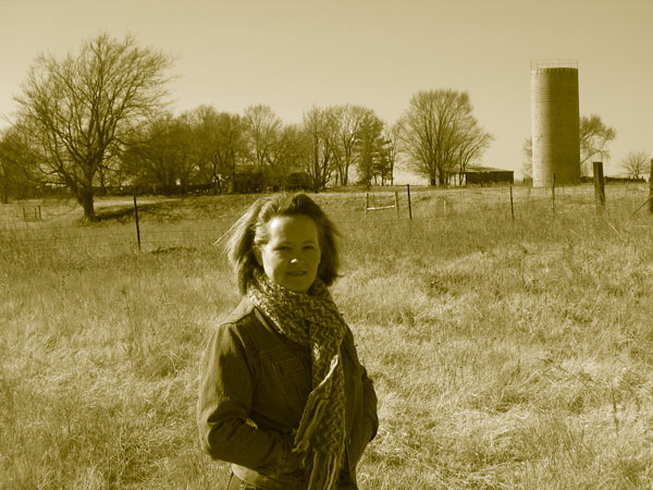 My Amazing-Missus on the farm where she grew up.